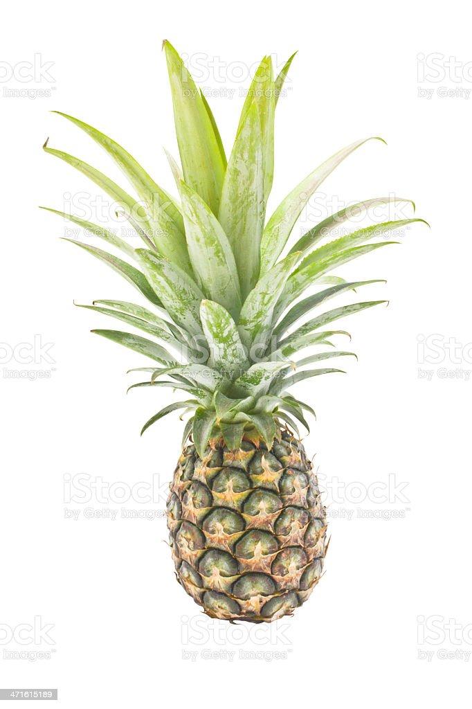 Pineapple isolated on white background. stock photo