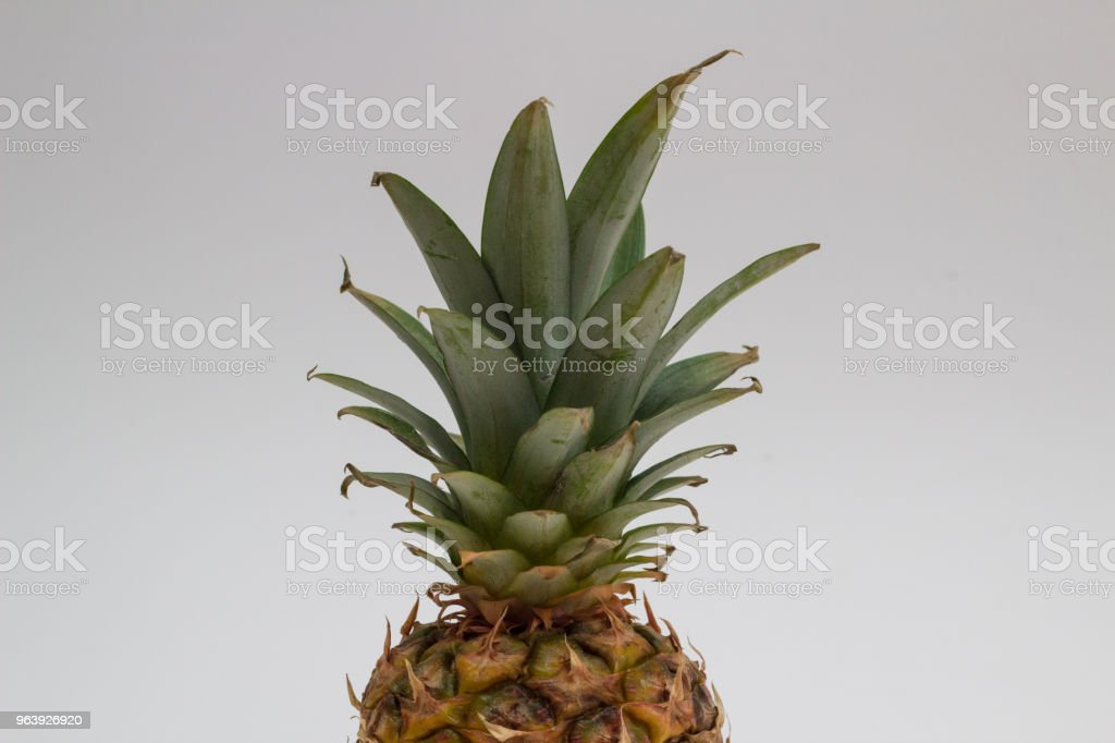 pineapple isolated on white - Royalty-free Above Stock Photo