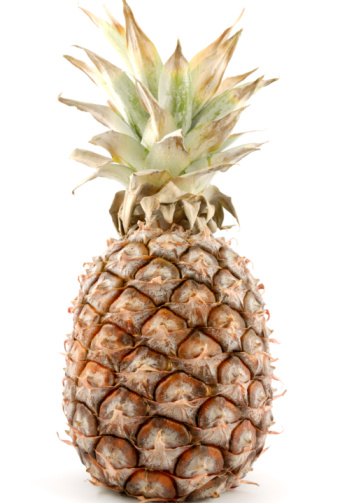 Pineapple Isolated On White Stockfoto en meer beelden van Afbeelding
