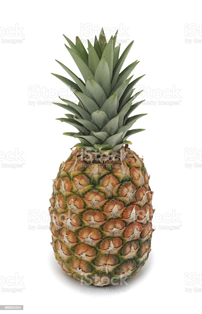 Pineapple, isolated royalty-free stock photo