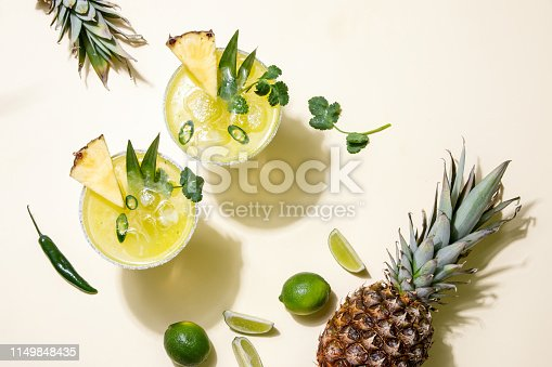 istock Pineapple jalapeno margarita summer cocktail 1149848435