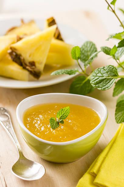 ananas-chutney - ananas marmelade stock-fotos und bilder