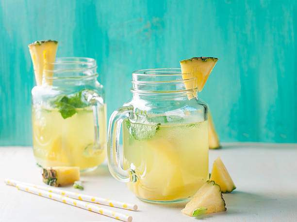 Pineapple lemonade stock photo