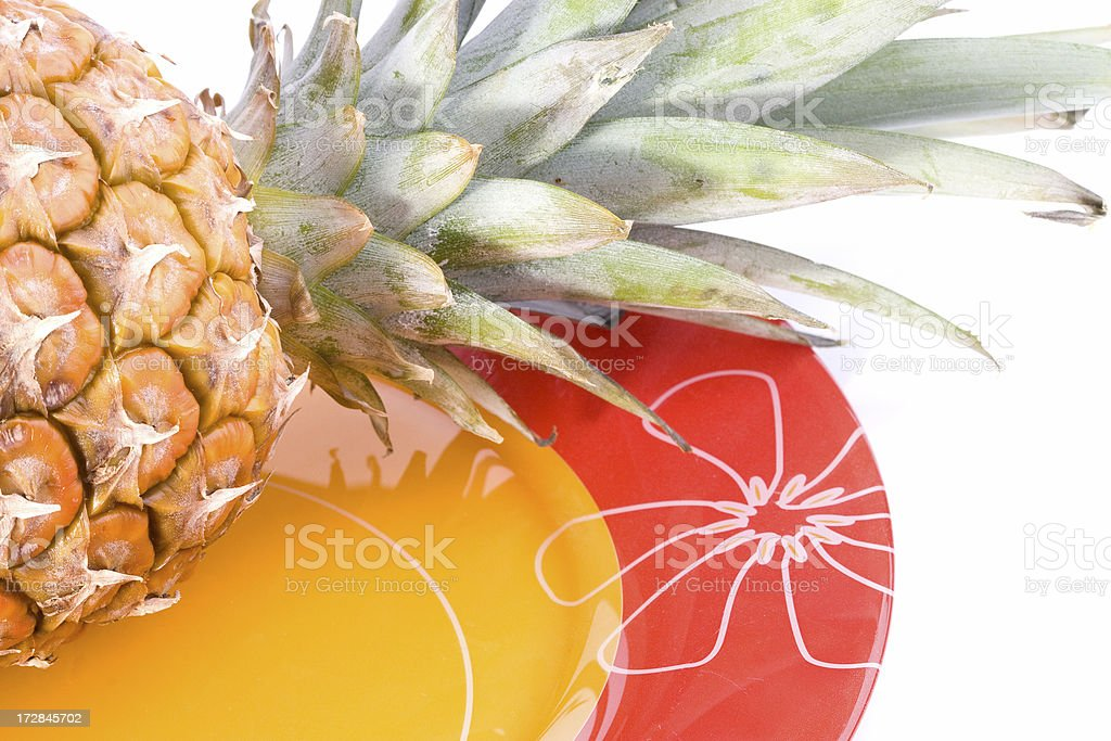 pineapple on a plate royalty-free stock photo