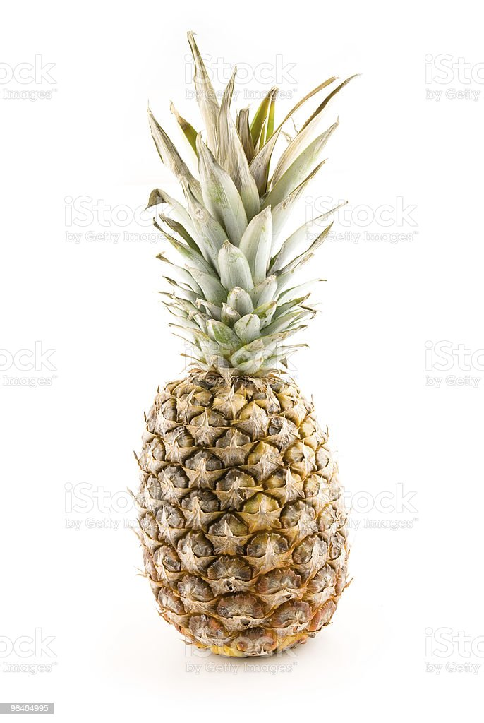 pineapple on the white royalty-free stock photo