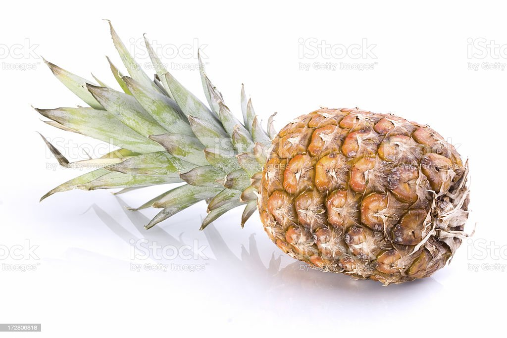 pineapple on white background royalty-free stock photo