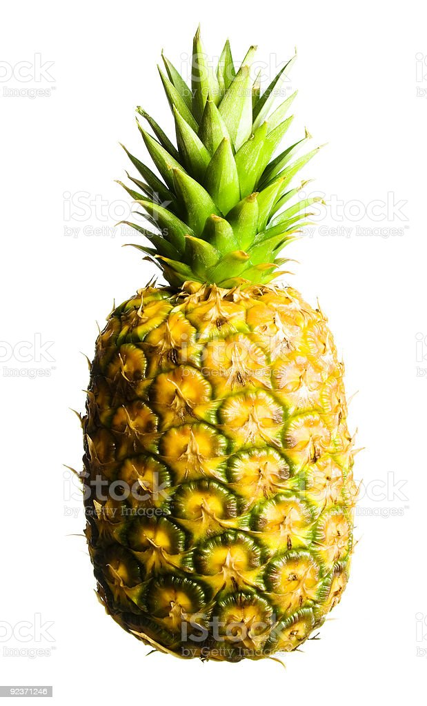 Pineapple on white royalty-free stock photo