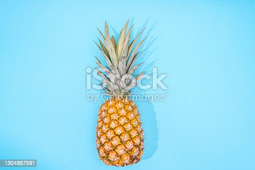 Pineapple on the blue backround