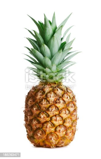 Pineapple on white backgroundMore fruits and berries: