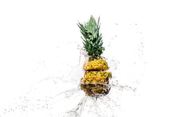 ananas  - innocent saft stock-fotos und bilder