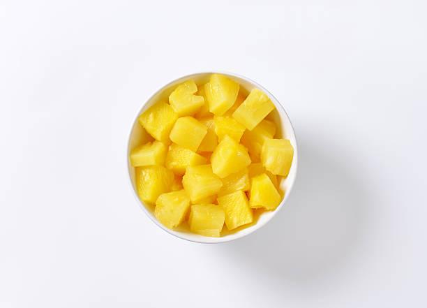 Pineapple pieces stock photo