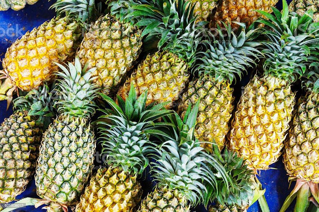 Pineapple pile Lizenzfreies stock-foto