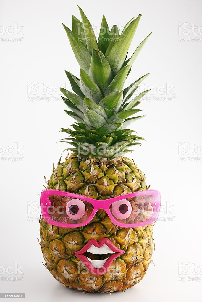 Pineapple portrait. royalty-free stock photo