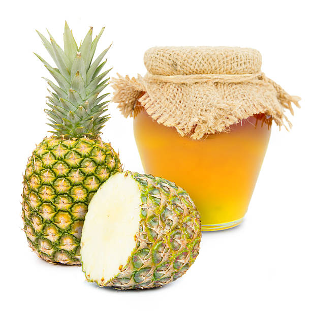 ananas-produkt - ananas marmelade stock-fotos und bilder