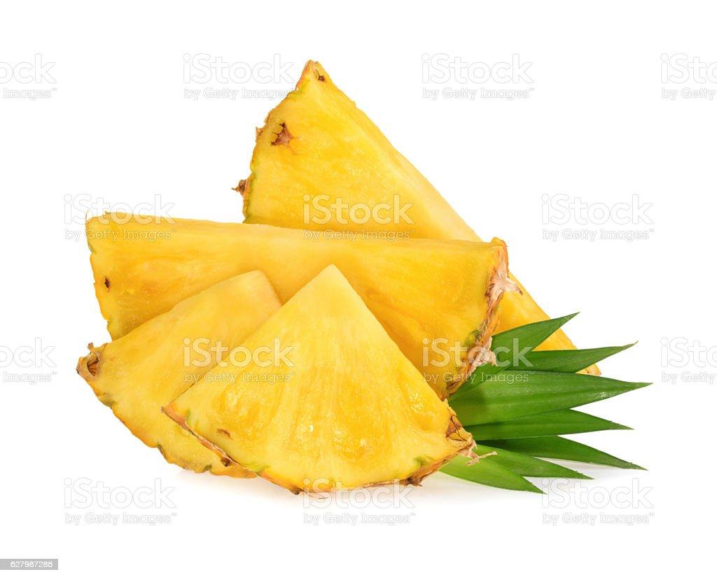 Ananas-Scheiben Isoliert – Foto