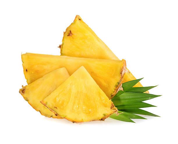 Rondelles d'ananas isolé - Photo