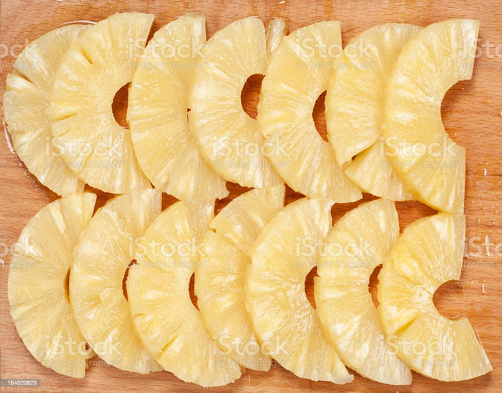 pineapple slices on the board royalty-free stock photo
