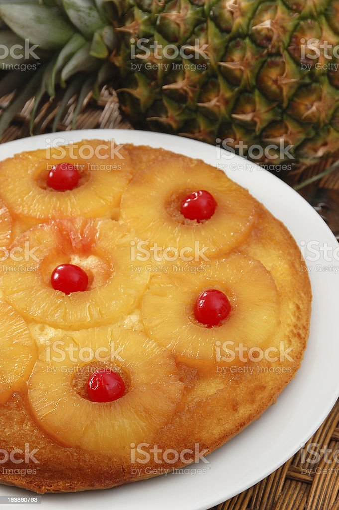 Pineapple Upside Down Cake stock photo