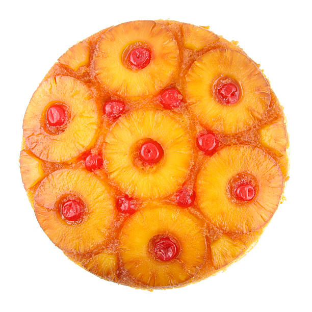 ananas-sturzkuchen - ananaskuchen stock-fotos und bilder