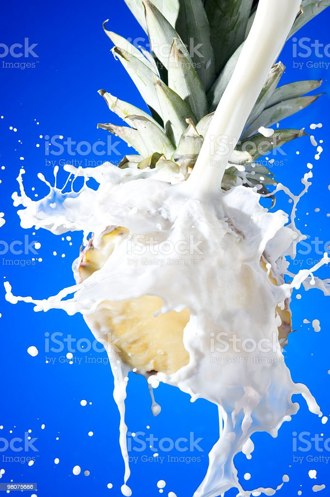 Pineapple with milk royalty-free stock photo