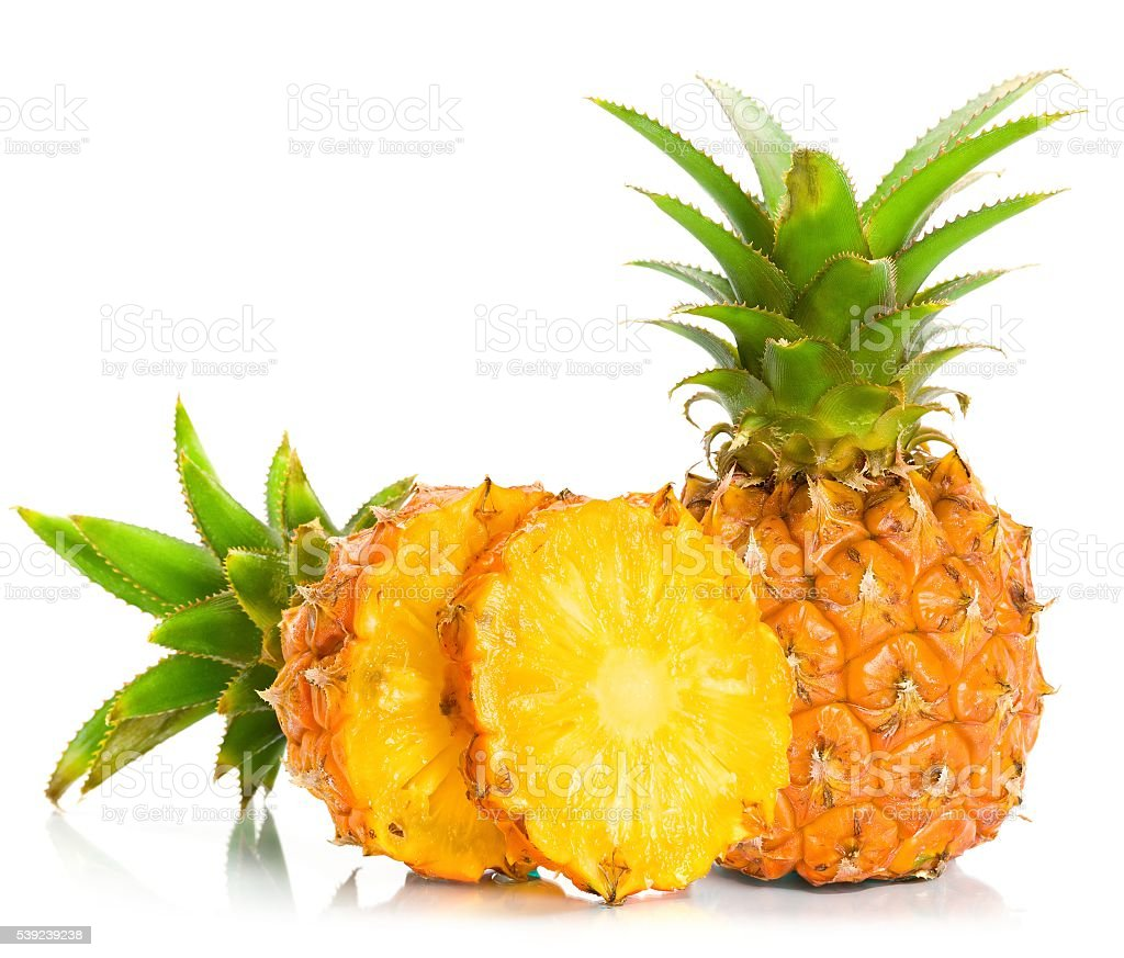 Pineapple with slices royalty-free stock photo