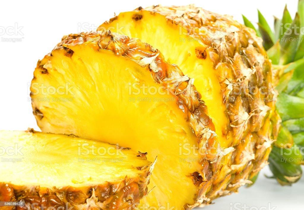 Com fatias de abacaxi foto royalty-free