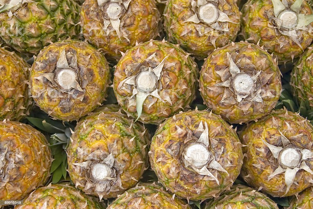 Pineapples background royalty-free stock photo