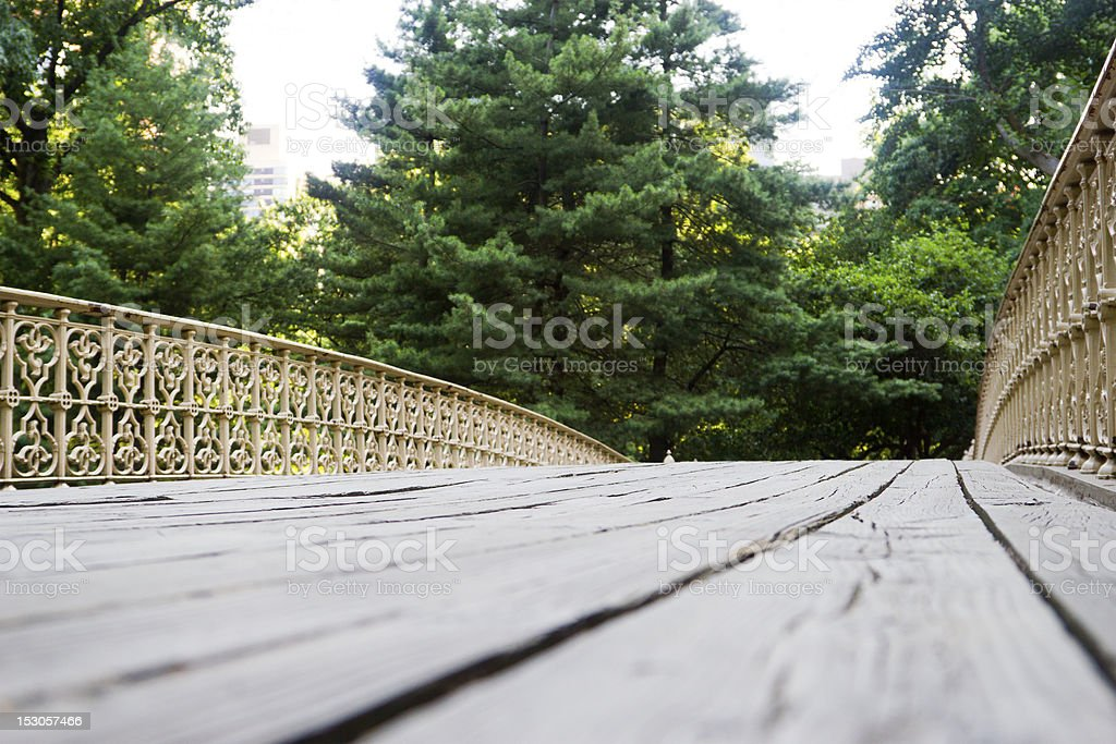 Pinebank Arch, Central Park, NYC stock photo