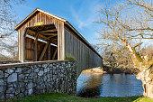 istock Pinetown Covered Bridge Crossing Conestoga Creek 1193575158