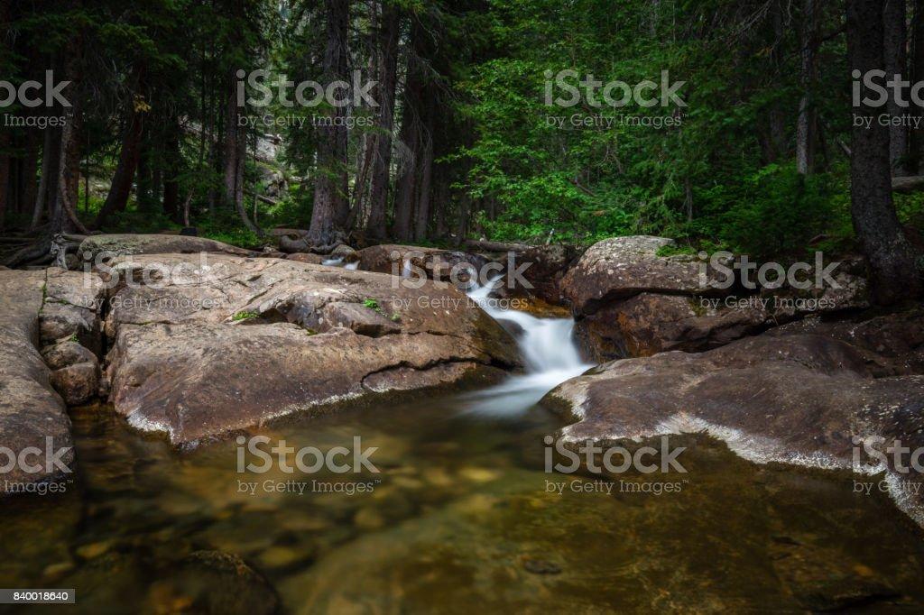 Piney Falls - Vail, Colorado stock photo