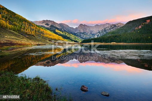 Piney Lake at Sunset near Vail Colorado