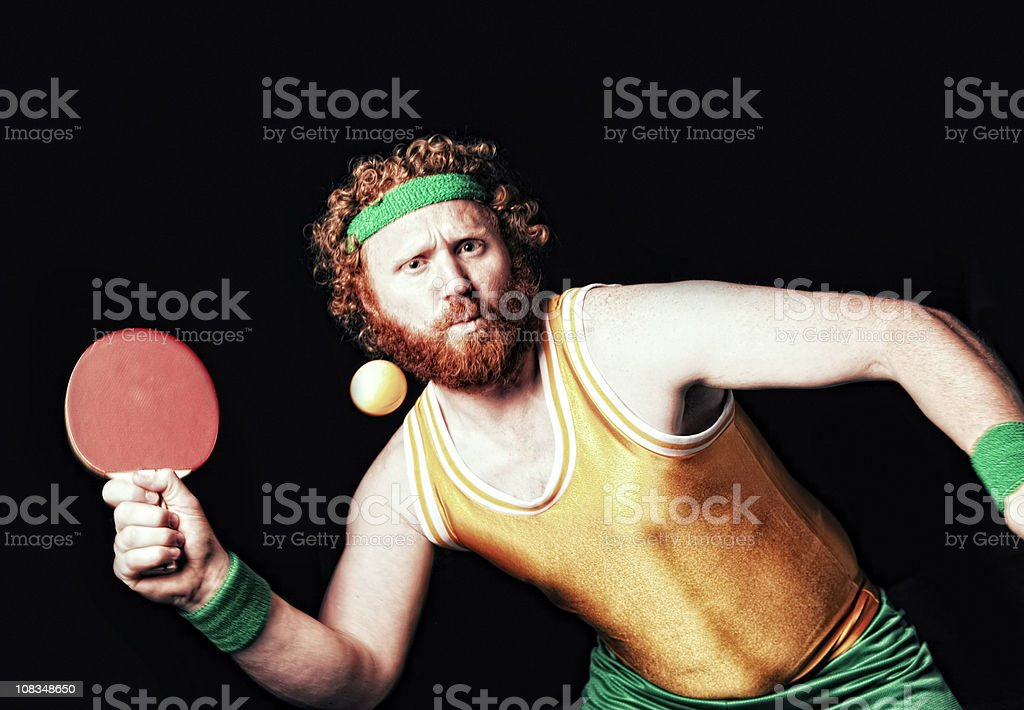 Ping Pong Action stock photo