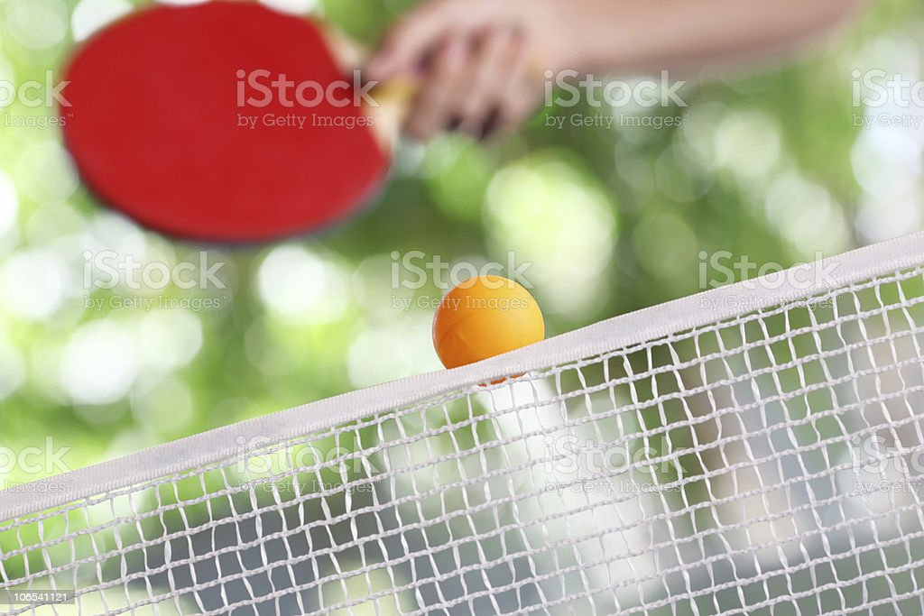 Ping pong in action stock photo
