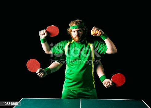 Ping pong player and master of the green rectangle. He dares you to try and get one past him.