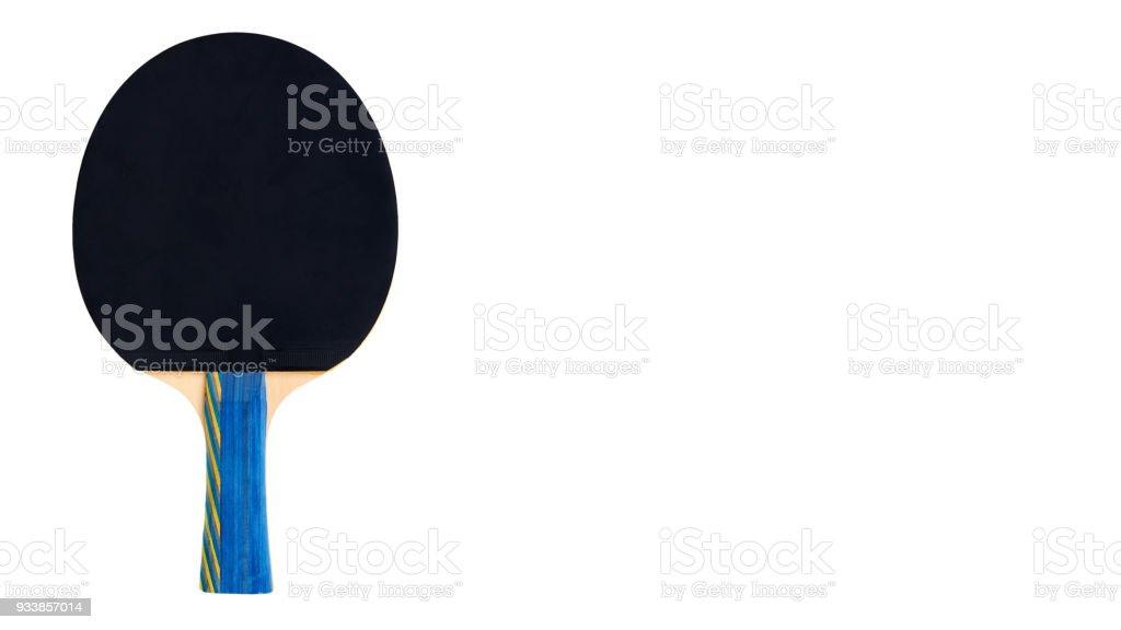 Fotografía de Paletas De Ping Pong Y Recorte De Bola Aislado Sobre ...