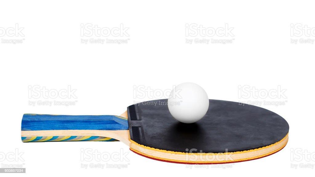 Paletas De Ping Pong Y Recorte De Bola Aislado Sobre Fondo Blanco ...
