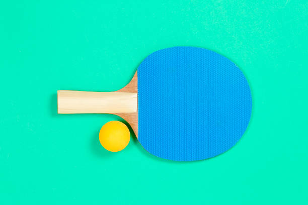 ping pong racket - table tennis racket stock pictures, royalty-free photos & images