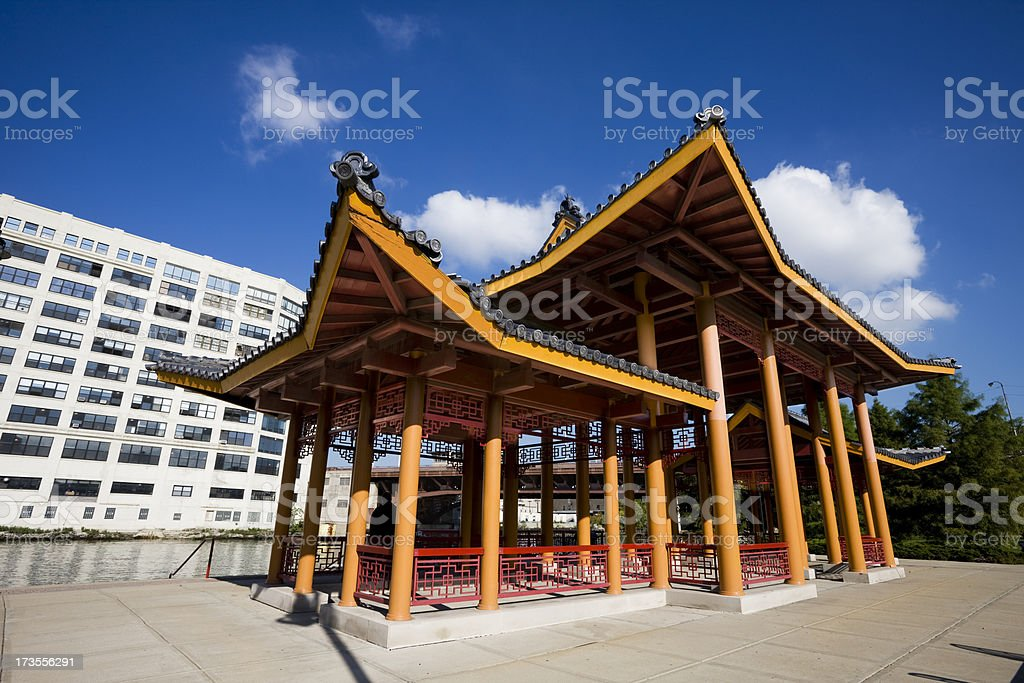 Ping Tom Park in Chinatown Chicago royalty-free stock photo