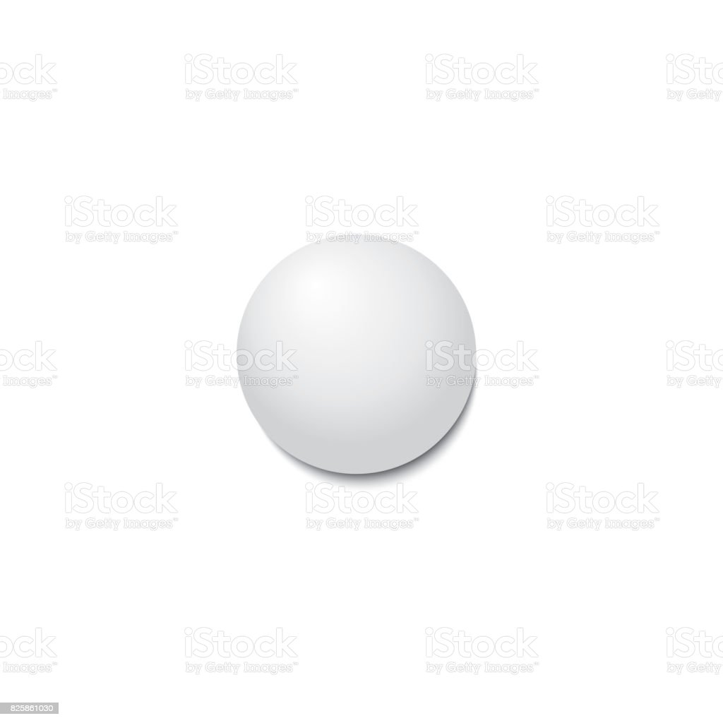 Ping-pong ball with shadow. stock photo