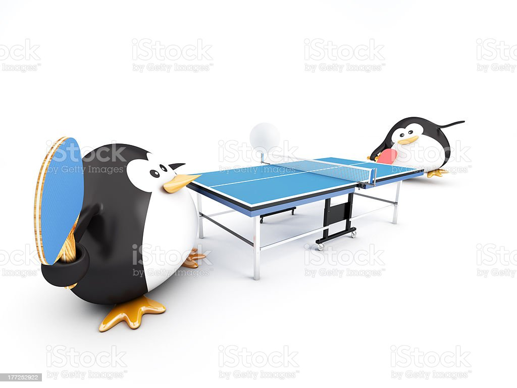 Ping-Pong Match royalty-free stock photo