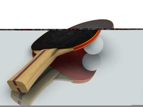Pingpong Paddle With Ball Stock Photo - Download Image Now