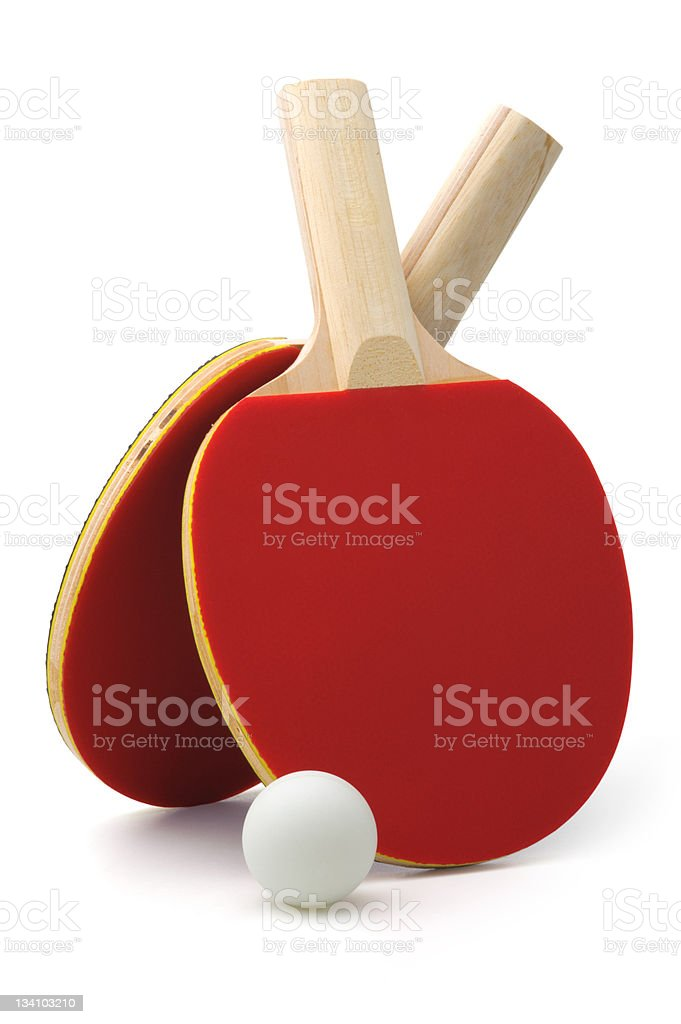 Ping-pong rackets and ball royalty-free stock photo