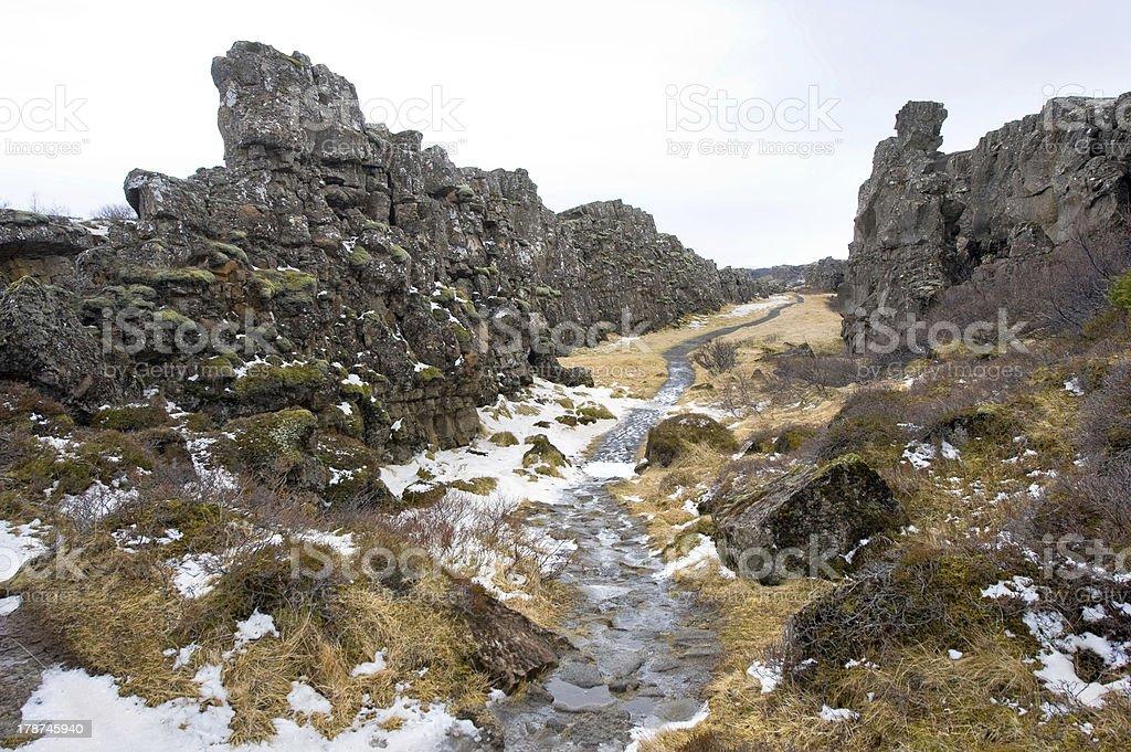 Pingvellir National Park royalty-free stock photo
