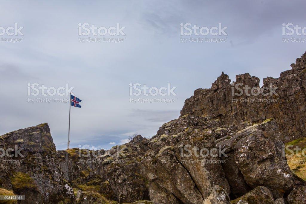 Pingvelllier National Park stock photo