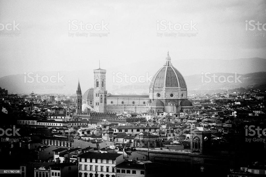 Pinhole effect of Florence Skyline stock photo