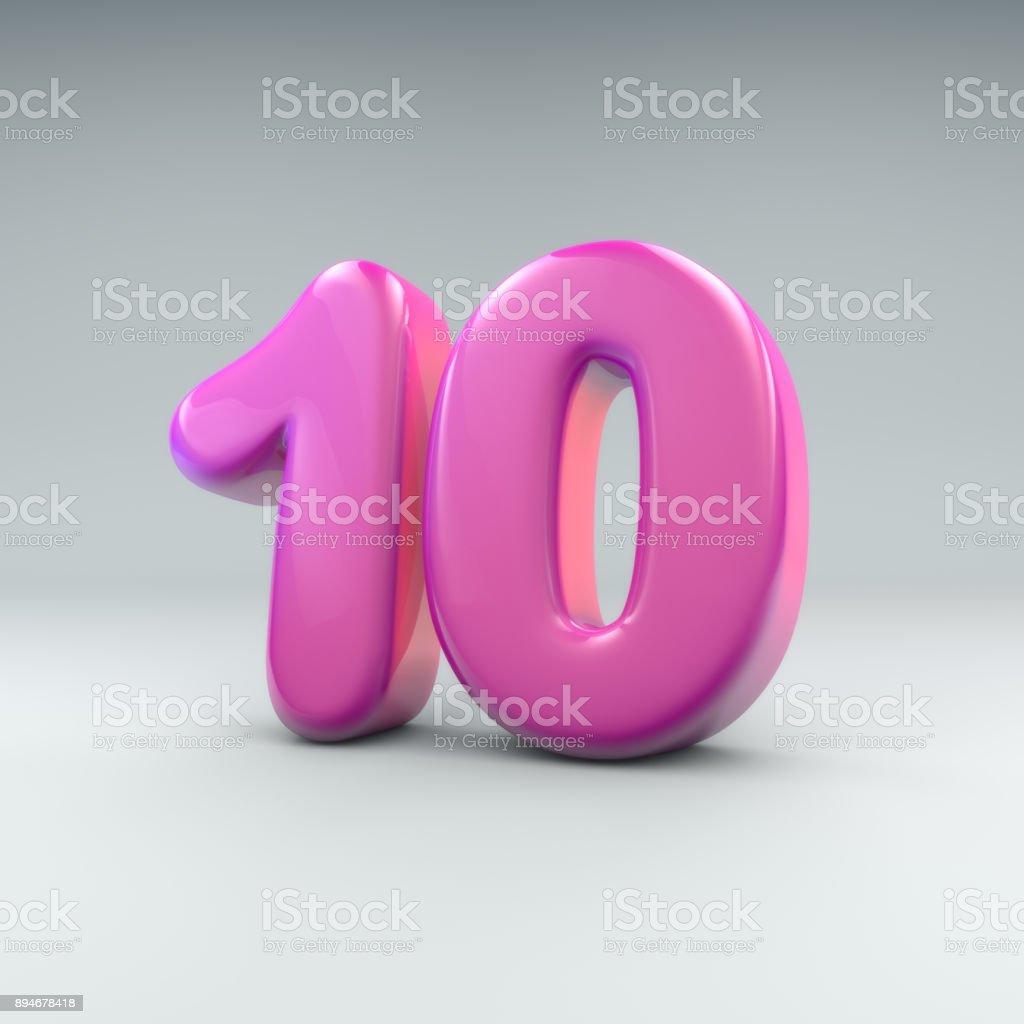 Pink 10 rendering stock photo