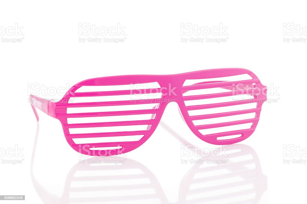 Pink 80's slot glasses isolated on white background – Foto