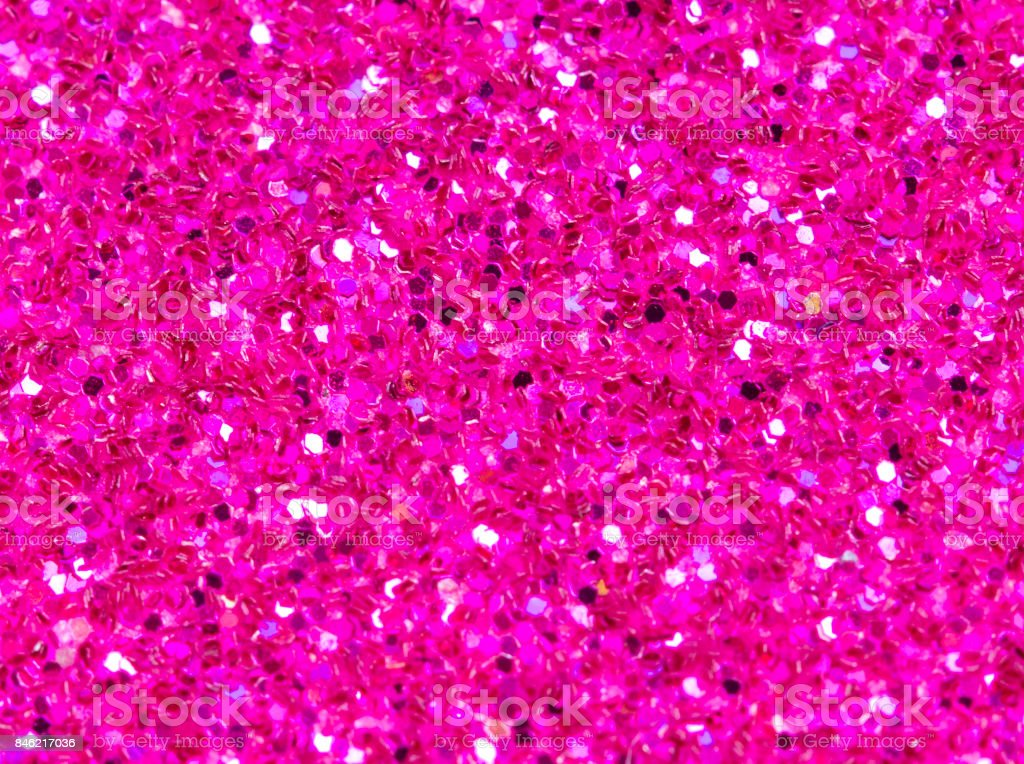 Pink abstract background. Pink glitter closeup photo. Pink shimmer...