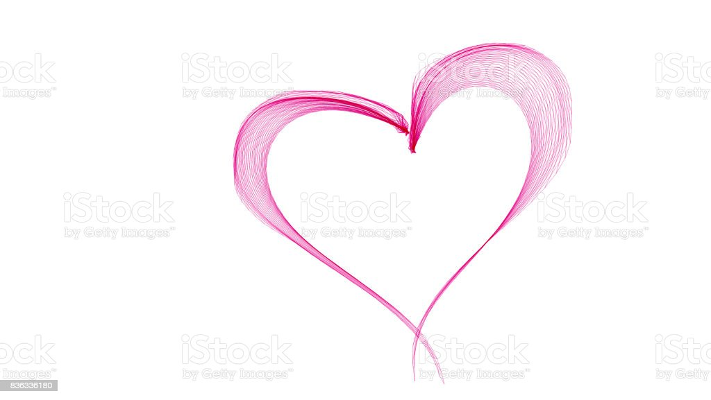 Pink abstract heart stock photo