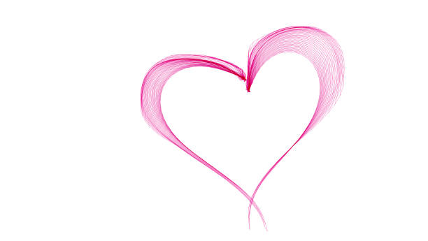 pink abstract heart - heart shape stock photos and pictures